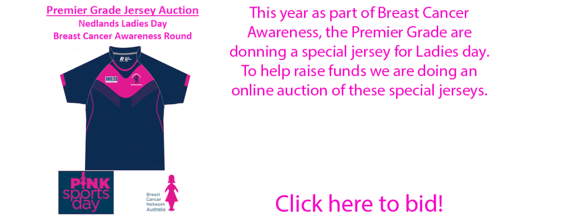 Neddies to Auction Ladies Day Jerseys