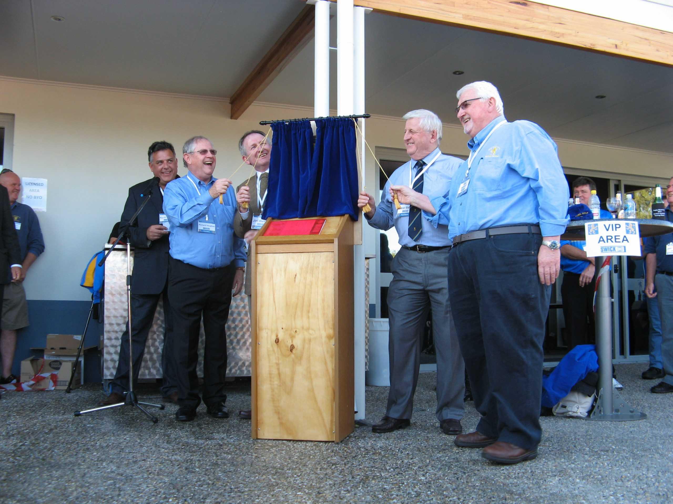 Martin Kavanagh on right, at the opening of the new clubhouse in 2012.
